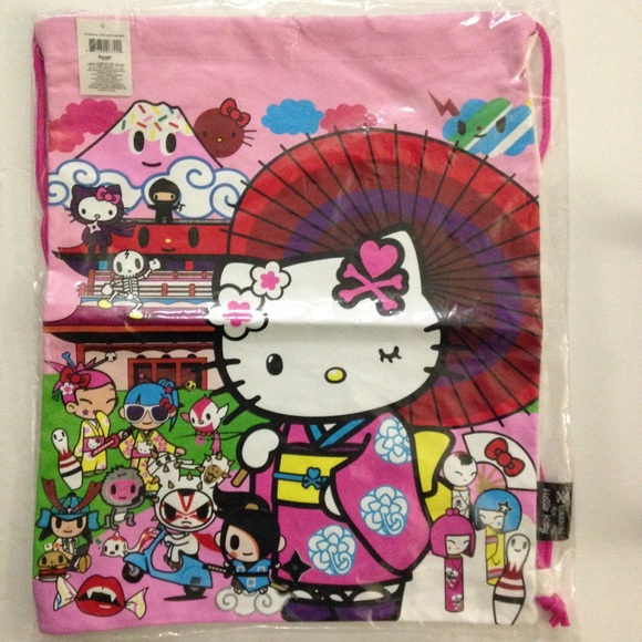 12932499d New tokidoki for Hello Kitty Drawstring bag. M_5b224773a5d7c6f2cd23cfe7